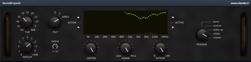 SoundBrigade De-Esser Interface
