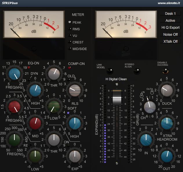 Strip3 Synth Pop Mix Interface