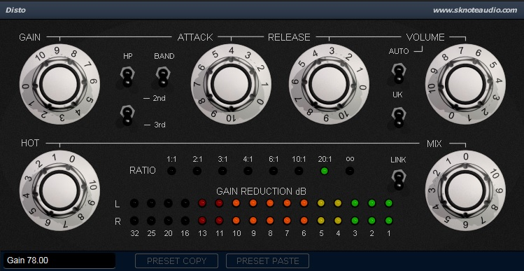 Disto-S – Presets on Drums.