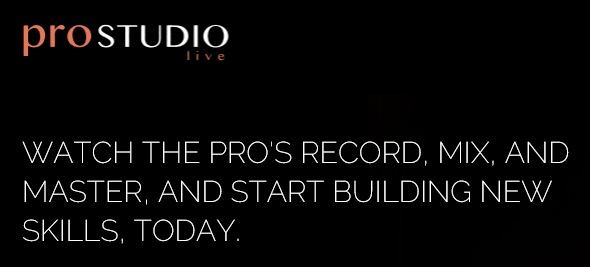 """""""The Rack"""" – Software Subscription formula with Pro Studio Live – Get full projects from videos."""