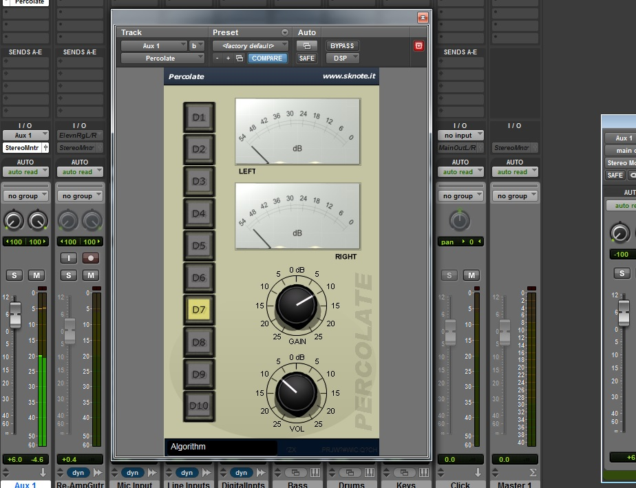 Percolate AAX-DSP – Saturate, distort, mix.