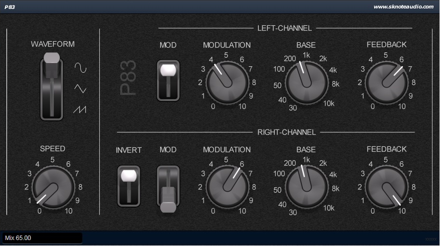 P83 – A big studio phaser from the past – Instructions