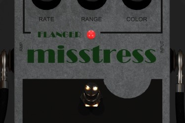 MissTress – Classic Flanger pedal for Guitar, Bass and a lot of sources.