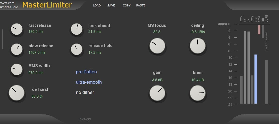MasterLimiter – Mastering Brickwall Limiter and mastering tools.