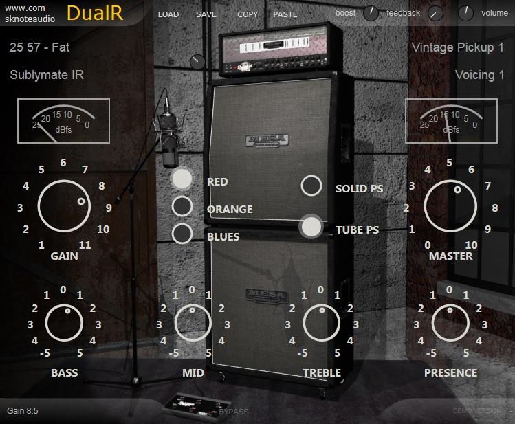 DualR – High Gain Guitar Amplifier and cabinet modeller.